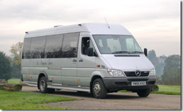 Stansetd Airport coach hire - Sprinter. Click for zoomed image.